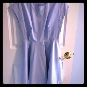Baby Blue TIBI Capped-Sleeve Shift Dress